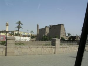 Karnak Temple showing church and then mosque