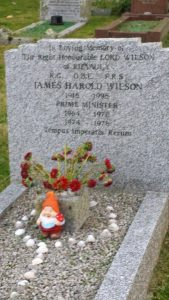 Harold Wilson's grave, St Mary's, Scilly Isles