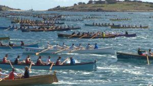 Some of the 3000+ rowers in the 2016 races (ITV West Country)