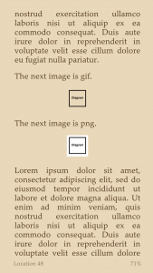 Kindle treatment of png and gif transparency