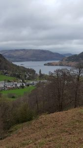 Glenridding and Ullswater, picture taken from a similar place as the painting above
