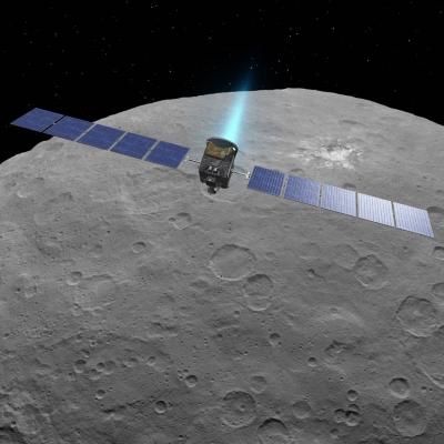 Artist's Impression of Dawn in orbit (NASA/JPL)