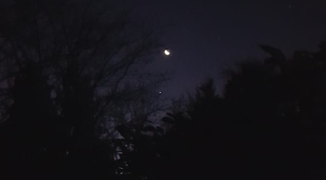 The Moon, Jupiter, and Mars