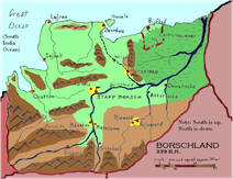 A map of Borschland (from an earlier book in the series)