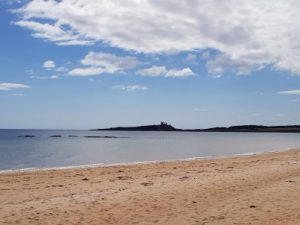 Dunstanburgh Castle, from Embleton Bay