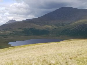 Burnmoor Tarn, with Scafell and Great Gable behind