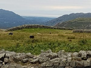 Hardknott Fort, looking towards the Irish Sea and Isle of Man
