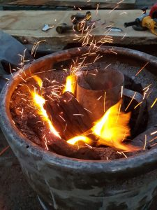 The smelting fire