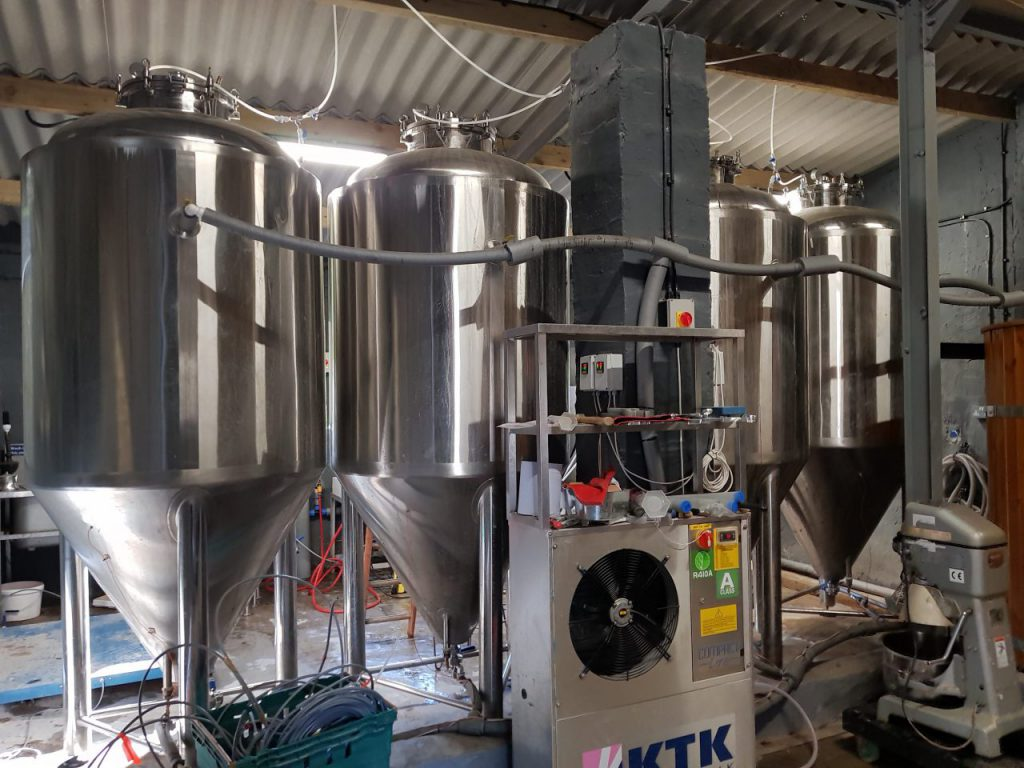 Fermenters at Grasmere Brewery