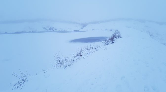 Alcock Tarn in ice